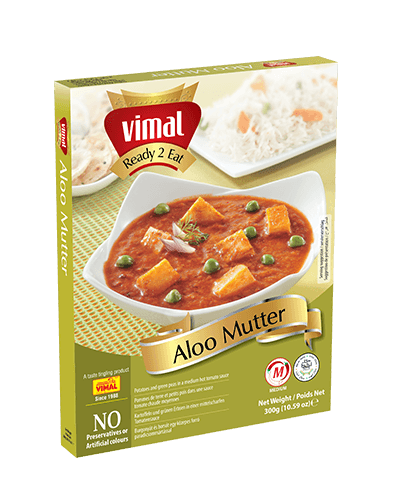 Aloo Mutter - Dal Tadka - Vimal Agro Products Pvt. Ltd. - Irresistible Taste