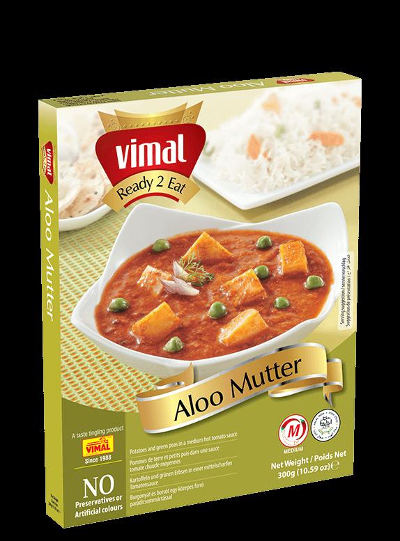 Aloo Mutter - Vimal Agro Products Pvt. Ltd. - Irresistible Taste