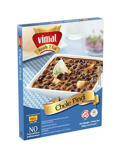 Chole Pindi - Dal Tadka - Vimal Agro Products Pvt. Ltd. - Irresistible Taste