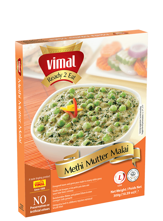 Methi Mutter Malai - Vimal Agro Products Pvt. Ltd. - Irresistible Taste