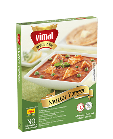 Mutter Paneer - Dal Tadka - Vimal Agro Products Pvt. Ltd. - Irresistible Taste