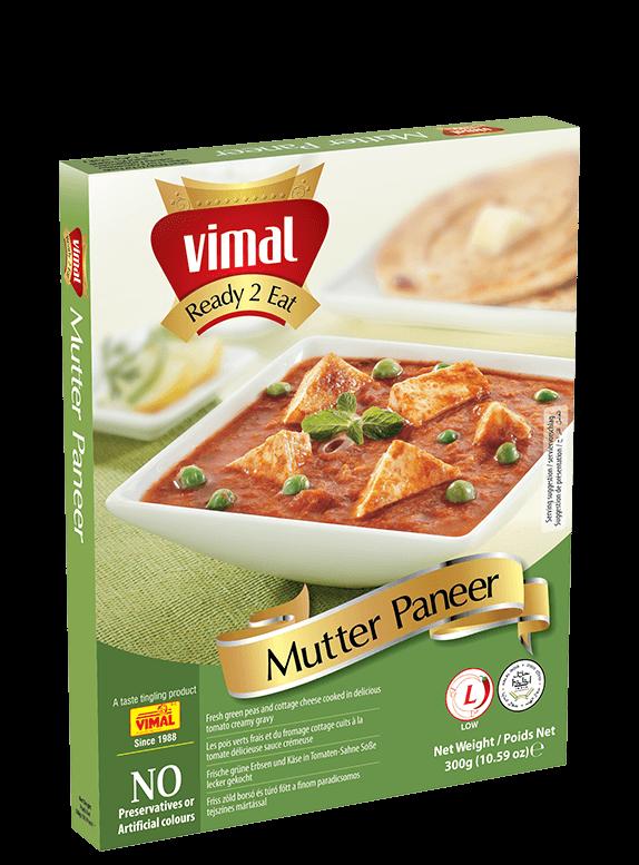 Mutter Paneer - Vimal Agro Products Pvt. Ltd. - Irresistible Taste