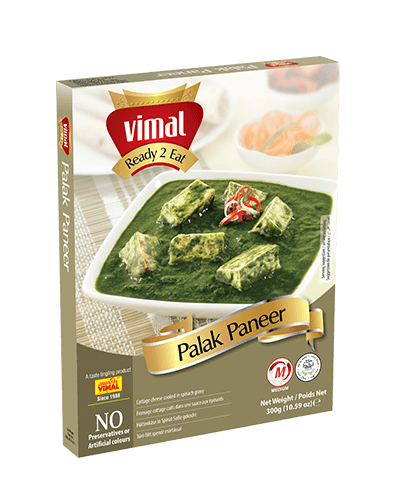 Palak Paneer - Dal Tadka - Vimal Agro Products Pvt. Ltd. - Irresistible Taste