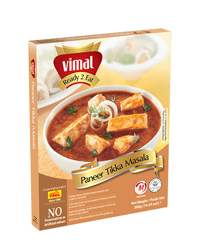 Paneer Tikka Masala - Dal Tadka - Vimal Agro Products Pvt. Ltd. - Irresistible Taste