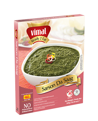 Sarson Da Saag - Dal Tadka - Vimal Agro Products Pvt. Ltd. - Irresistible Taste